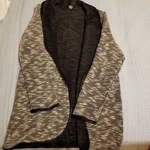 Love Culture Grey and White Cardigan